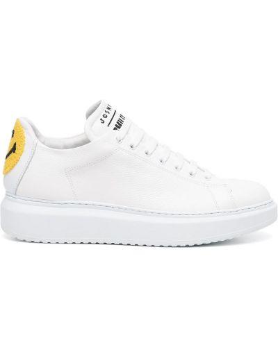 Białe sneakersy koronkowe Joshua Sanders