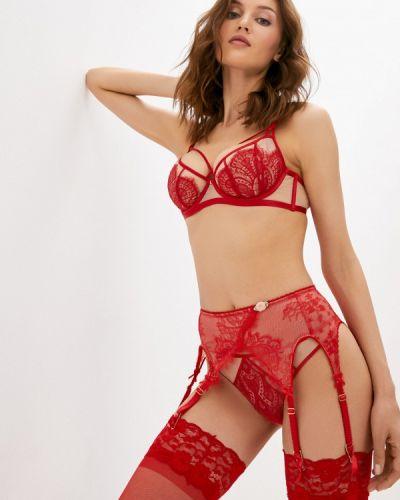Красные чулки с поясом Dita Von Teese