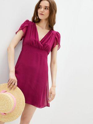 Фиолетовое платье с запахом Naf Naf
