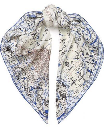 Голубой шелковый платок Faliero Sarti