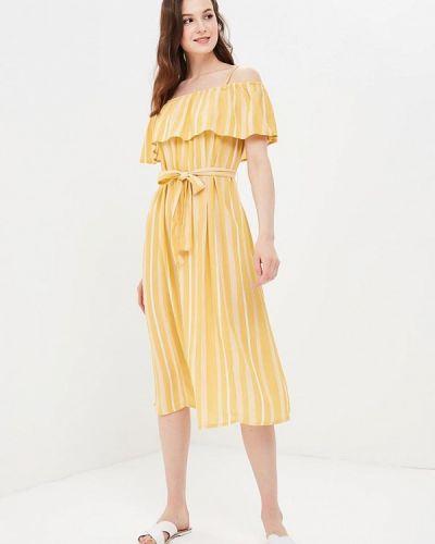 Желтое платье весеннее Ichi