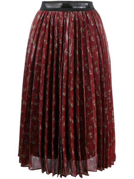 Плиссированная юбка миди с поясом Coach