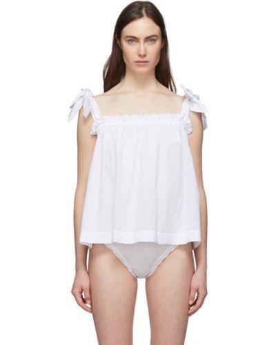 Biały top bez rękawów bawełniany Le Petit Trou