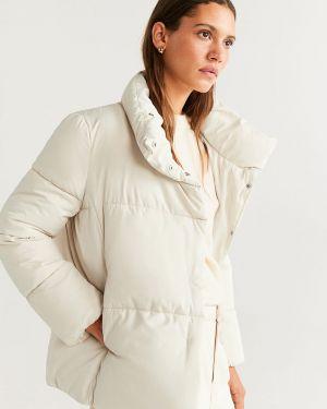 Прямая стеганая куртка мятная Mango