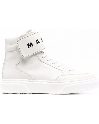 Białe sneakersy Marni Kids