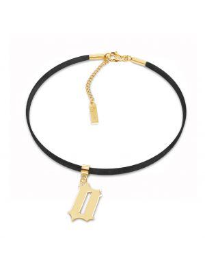 Złoty choker - czarny Giorre