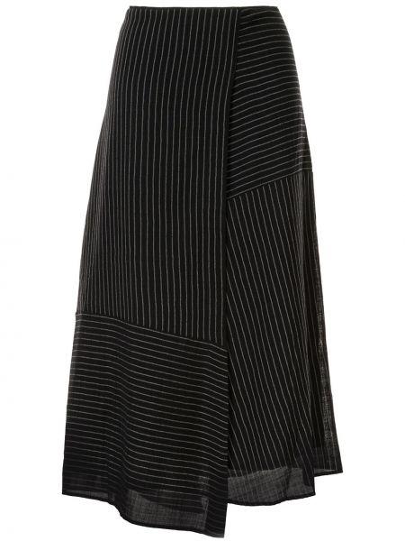 Синяя асимметричная юбка Cefinn