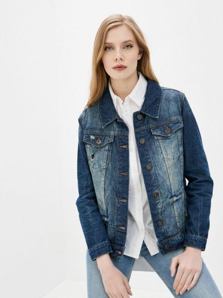 Джинсовая куртка осенняя синий Sublevel