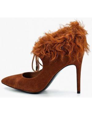 Туфли на каблуке замшевые оранжевый Ilvi