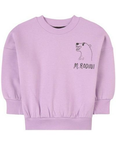Fioletowa bluza dresowa Mini Rodini