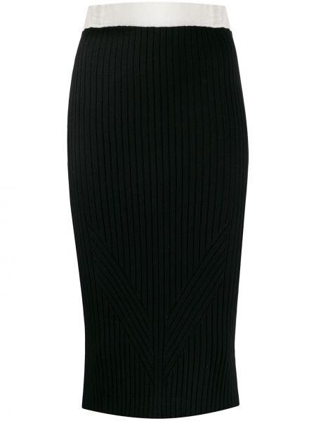 Черная приталенная юбка карандаш с рукавом 3/4 Philo-sofie