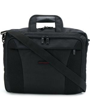 Черная нейлоновая сумка с ручками с пряжкой Pierre Cardin Pre-owned