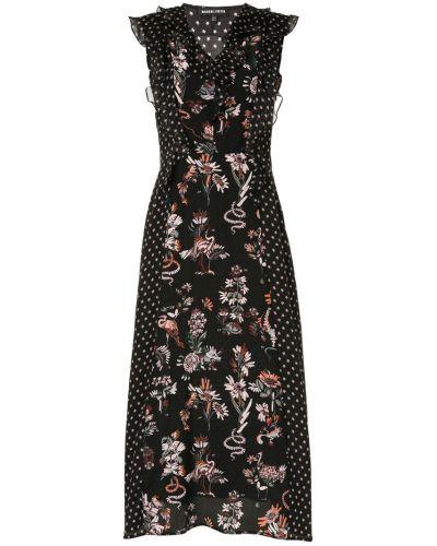 Платье с цветочным принтом с V-образным вырезом Markus Lupfer