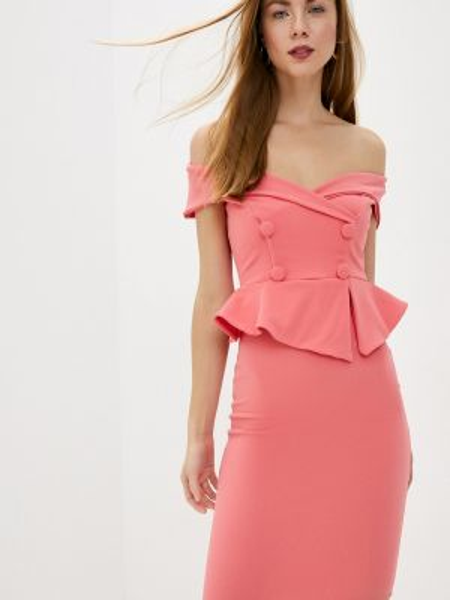 Коралловое платье City Goddess