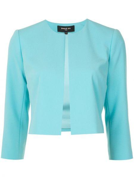 С рукавами синий удлиненный пиджак Paule Ka