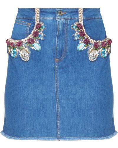 Юбка мини джинсовая с карманами Dolce&gabbana