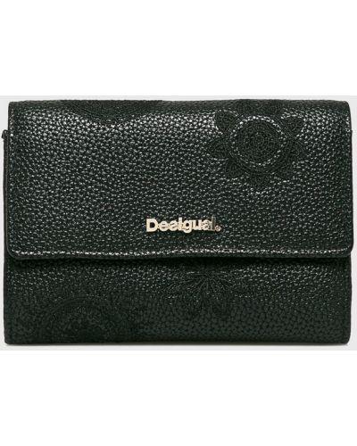 Кожаный кошелек с вышивкой на молнии Desigual