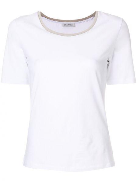 Хлопковая футболка - белая Le Tricot Perugia