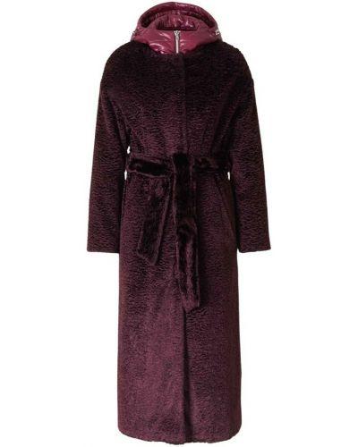 Fioletowy płaszcz Herno