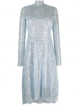 Синее платье миди с воротником с пайетками Opening Ceremony