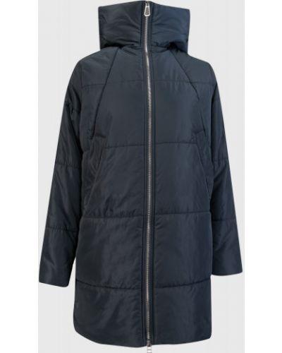 Синее пальто с капюшоном на молнии ветрозащитное Ostin