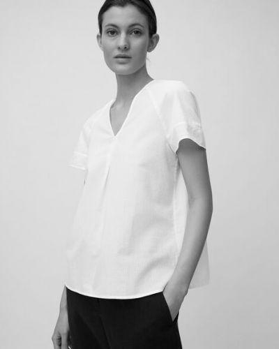 Biała bluzka w paski bawełniana Marc O Polo