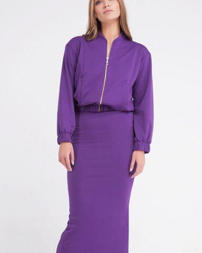 Юбочный костюм фиолетовый Malaeva
