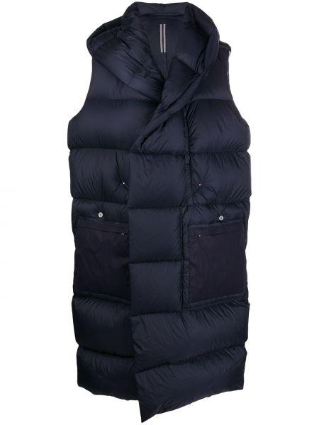 Puchaty klasyczny bawełna płaszcz z kapturem z kieszeniami Rick Owens