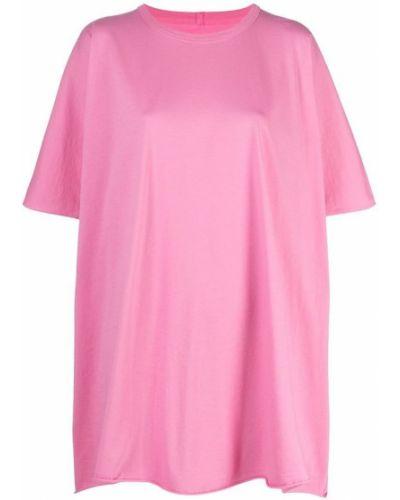Różowa podkoszulka bawełniana Rick Owens