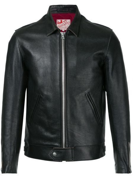 Кожаная черная кожаная куртка на молнии Addict Clothes Japan