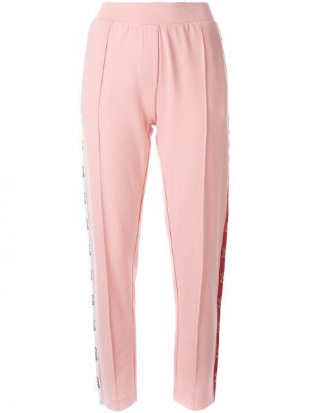 Розовые брюки с поясом из вискозы Zoe Karssen
