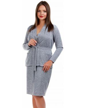 Юбочный костюм деловой с юбкой карандаш Liza Fashion