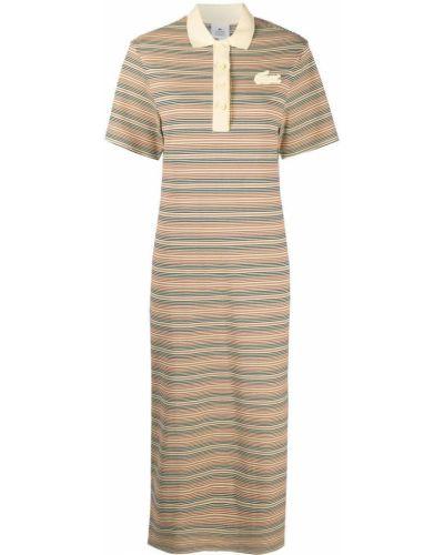 Платье макси длинное - коричневое Lacoste
