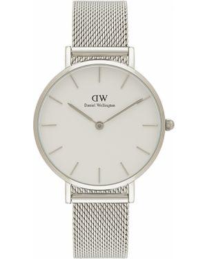 Żółty klasyczny wodoodporny zegarek srebrny Daniel Wellington