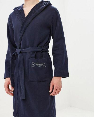 Синий халат Emporio Armani