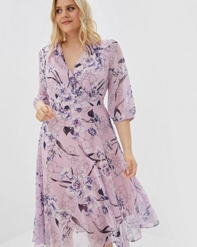 Платье розовое прямое Max&style