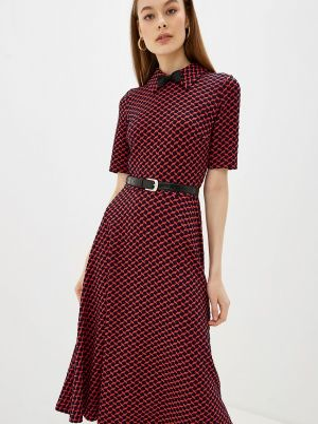 Платье осеннее прямое Арт-Деко