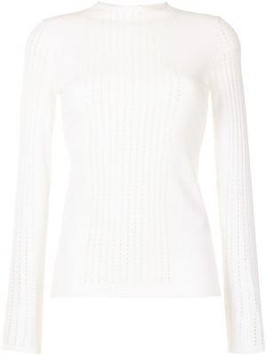 Biała koszulka z długimi rękawami Mrz
