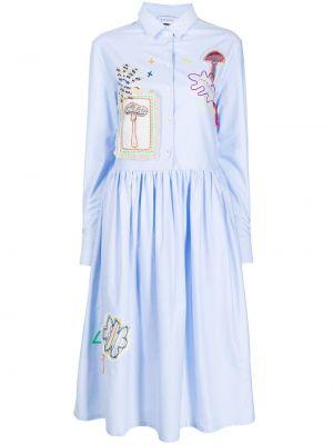 Платье рубашка - синее Mira Mikati