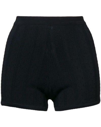 Однобортные облегающие черные шорты Marc Jacobs