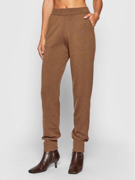 Brązowe spodnie dresowe Kontatto