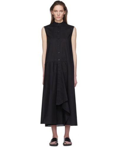Хлопковое черное платье без рукавов с воротником Julia Jentzsch