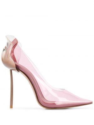 Лодочки прозрачные - розовые Le Silla