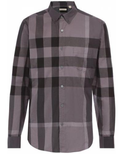 Рубашка с длинным рукавом в клетку прямая Burberry
