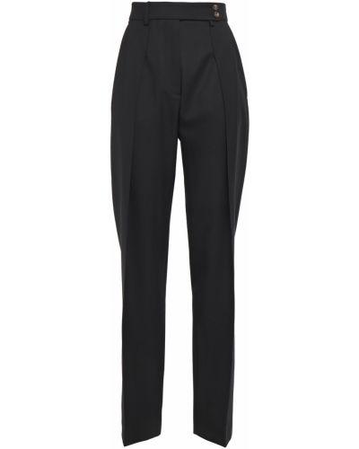 Czarne spodnie wełniane z paskiem Cedric Charlier
