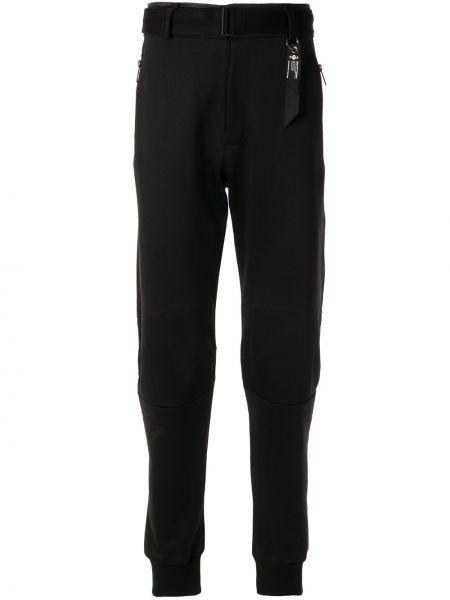 Черные спортивные брюки с поясом Kru