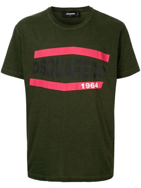 Koszula krótkie z krótkim rękawem wojskowy z nadrukiem Dsquared2