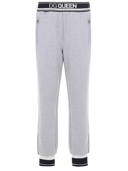 Спортивные брюки с лампасами серые Dolce & Gabbana