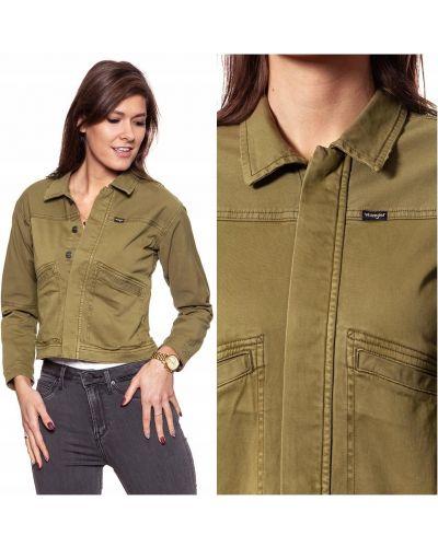 Bawełna zielony bawełna kurtka jeansowa na przyciskach Wrangler