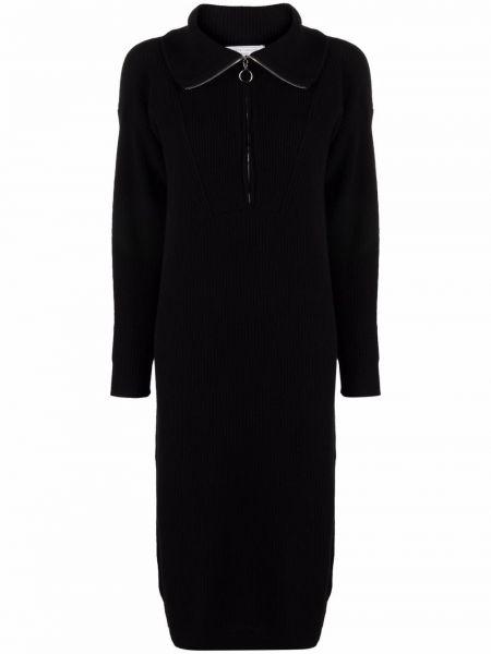 Платье макси с длинными рукавами - черное SociÉtÉ Anonyme